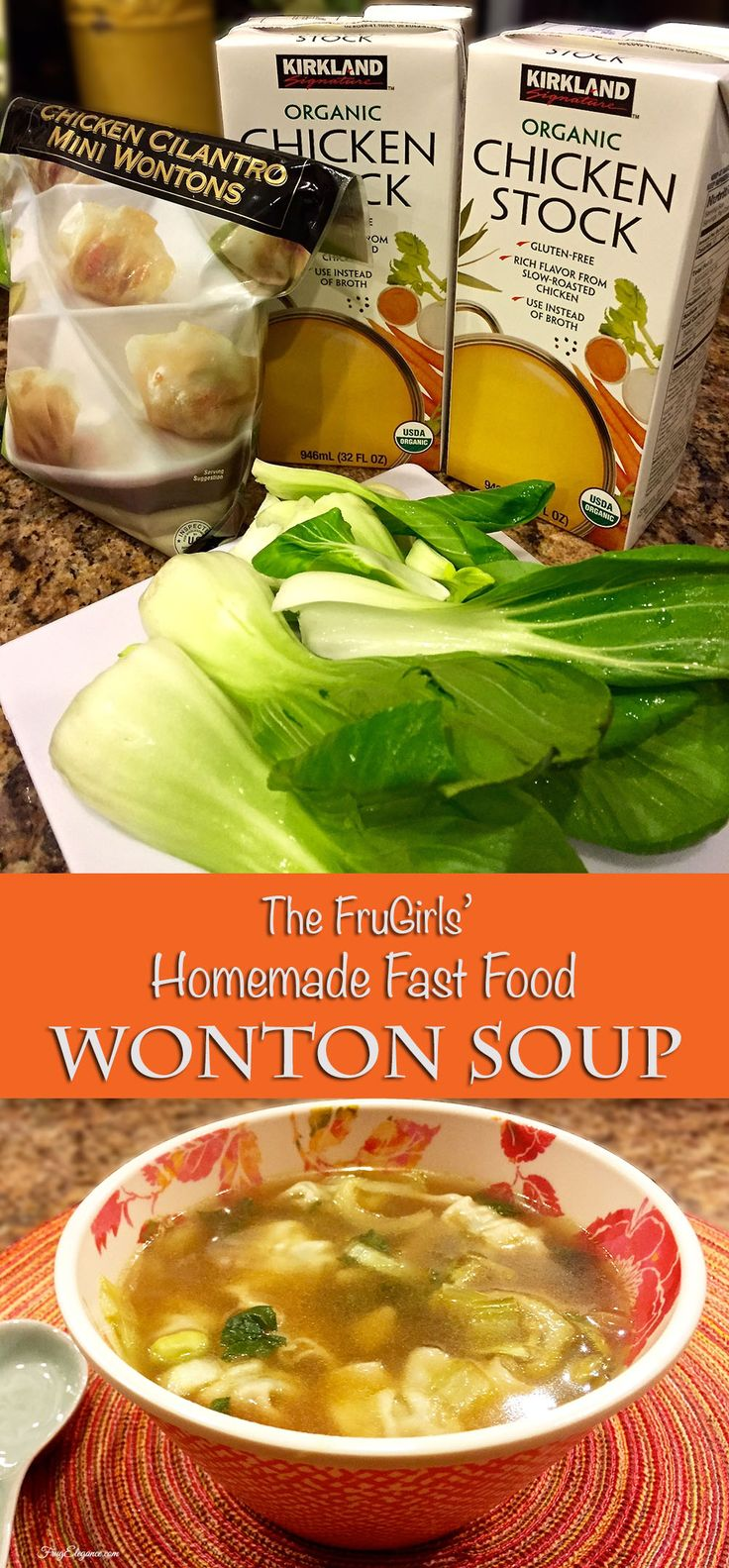 Homemade Fast Food that's better than going to the drive through. Warm & filling Wonton Soup- YUM!