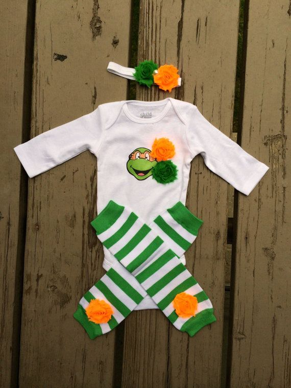 Baby Ninja Turtle Girl Outfit  Baby Shower by craftingballerinamom, $23.00