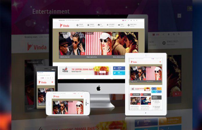 SJ Vinda - #free responsive Joomla #template. Clean & #Flat design. Great for media,event,movies websites..