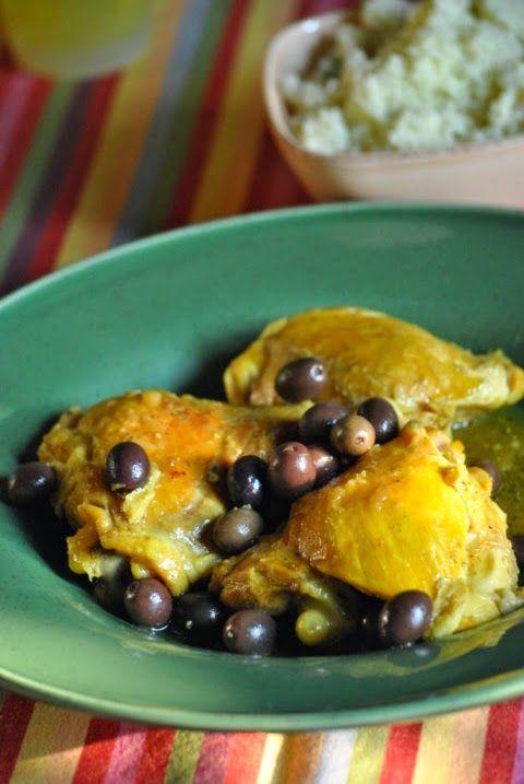 Tajine di pollo con zenzero, zafferano e olive nere - Sorelle in pentola