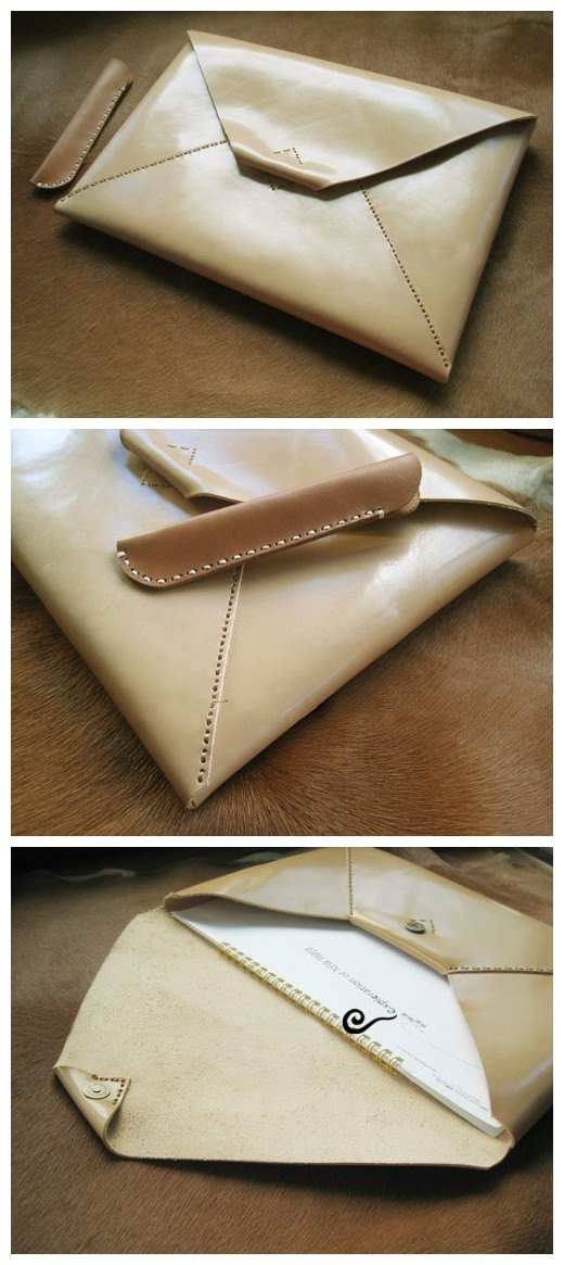 Ipad mini handmade leather case.
