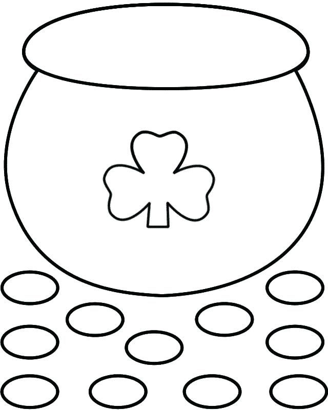 Pot Of Gold Coloring Pages St Patrick S Day Crafts St Patricks