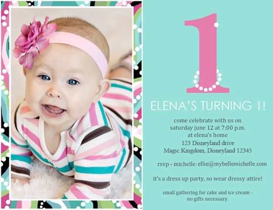 13 best 1st Year Birthday images on Pinterest Birthday party ideas - invitation for 1st birthday party girl