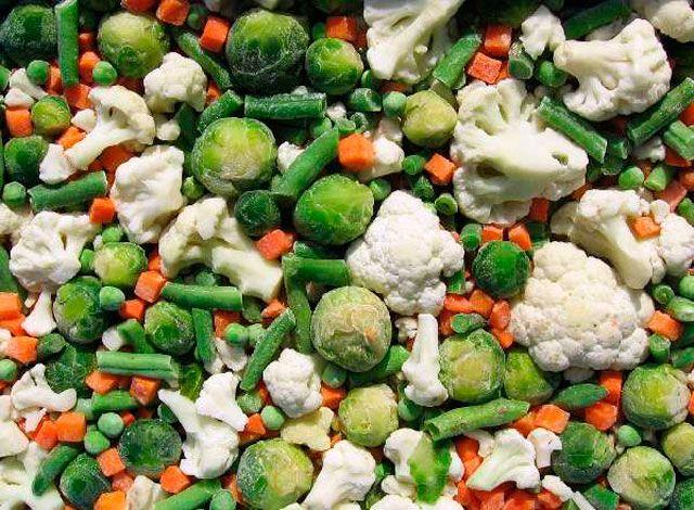 Примеры овощных смесей для заморозки