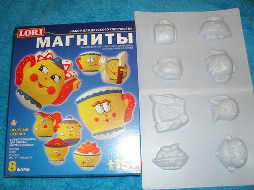 набор для изготовления магнитов, думаю прикольный детский тортик можно будет сделать