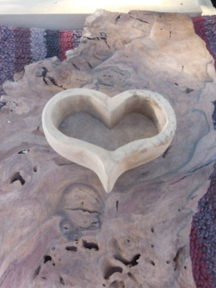 My name is Ajax Hawes and I carve heart shaped bowls out of black walnut burl…