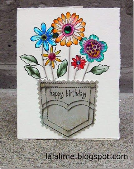 I used #TomBow Markers and guitar strings and a pocket stamp from #Stampin'up