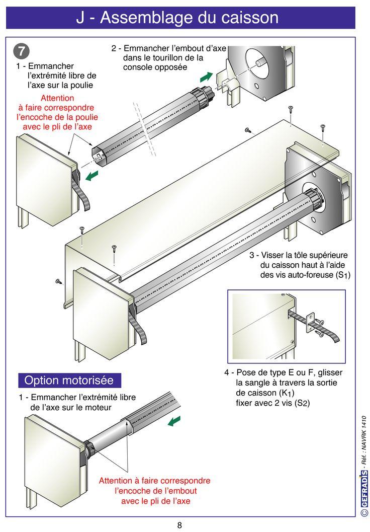 Page 8. Cette notice vous explique comment poser votre volet roulant en kit vous-même.  Prix d'usine sur Gefradis.fr.
