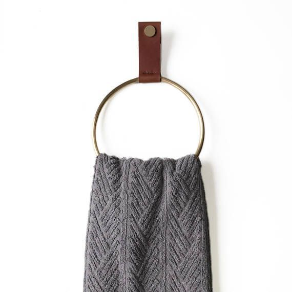 Handtuch Ring Handtuchhalter handtowels Leder und