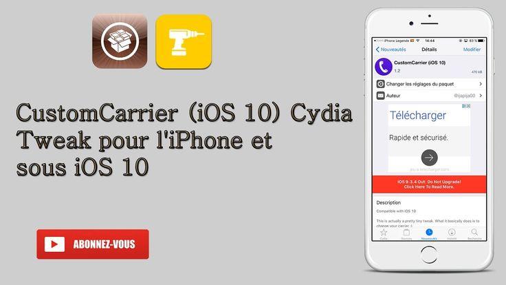 CustomCarrier (iOS 10) changer le nom de l'opérateur par un emoji et nom...