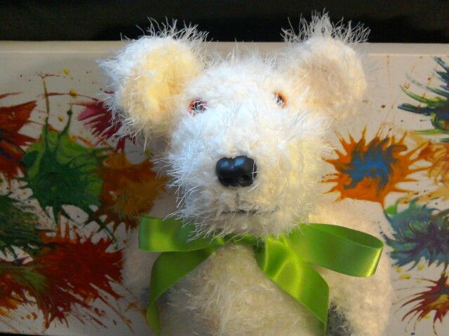 Billy bear.knitted this week.ready for etsy
