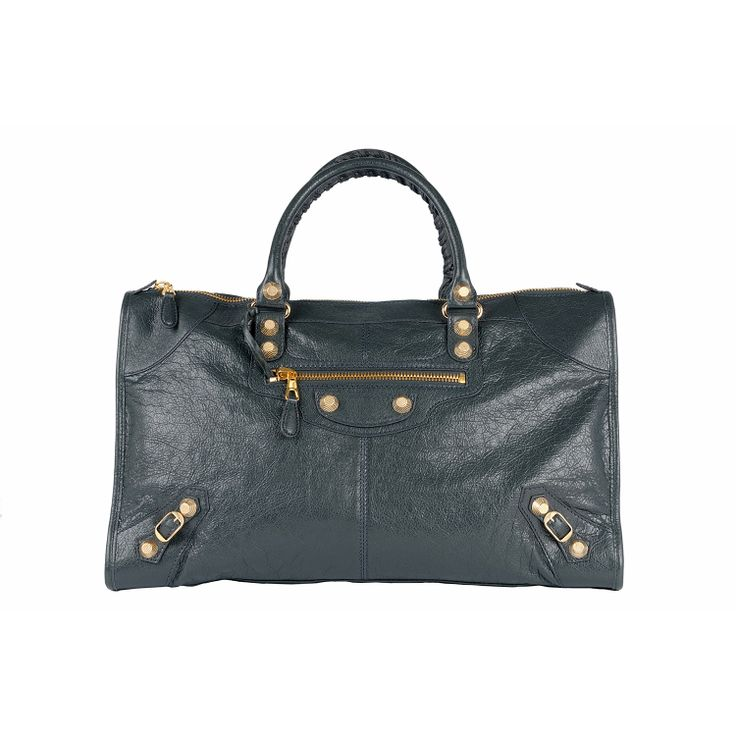 #Balenciaga City 12 Giant Gold #Bag #Anthracite
