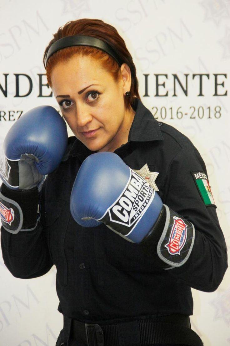 Talento deportivo en las filas de la SSPM de Juárez; La Dinamita Uribe destaca en el boxeo profesional | El Puntero