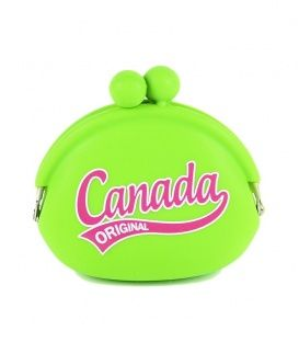 Lime Canada Jelly Coin Purse