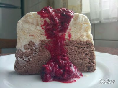 Double chocolate parfait with berry topping