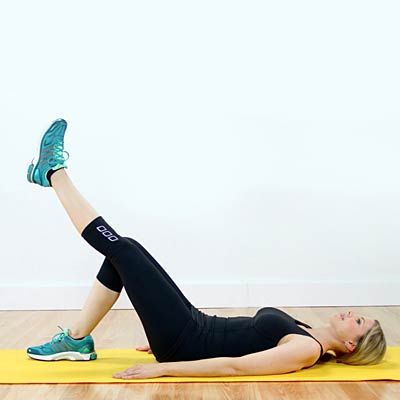 Straight Leg Raise - In this video, Cynthia Sass shows you how to do a straight leg raise. If done properly, this exercise helps prevent pain while strengthening your knees at the same time. Make sure to engage your abdominal muscles to not only sculpt your tummy, but also protect your lower back. Repeat 10 to 20 times on each side.