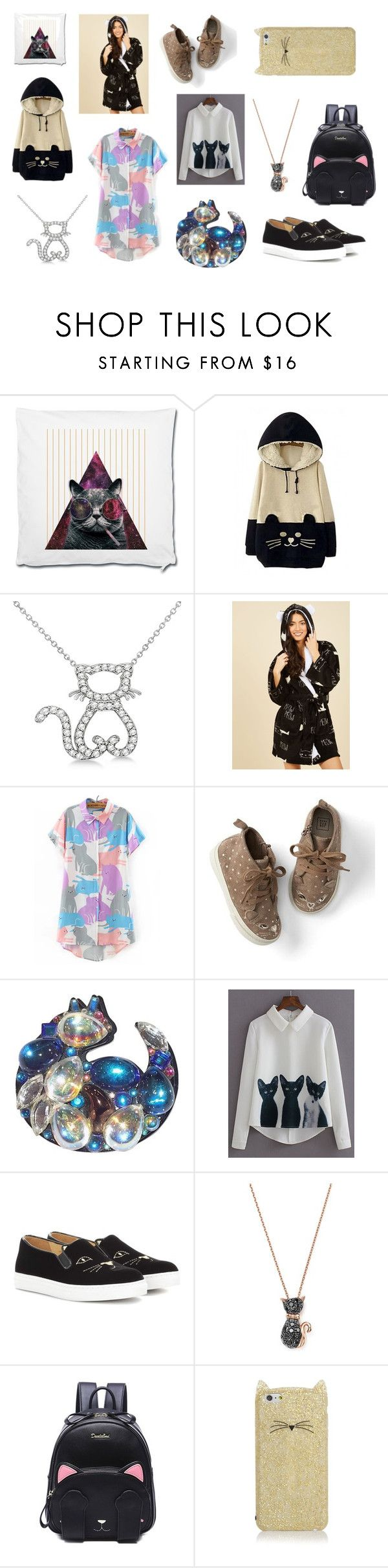 """Who Rules the World? Cat Ladies!"" by awesomeanimalover ❤ liked on Polyvore featuring WithChic, Allurez, Gap, Charlotte Olympia, Bloomingdale's and Kate Spade"