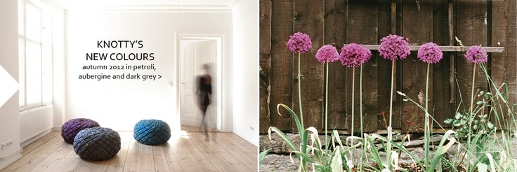 KNOTTY'S NEW COLOURS autumn 2012 in petroli, aubergine and dark grey!