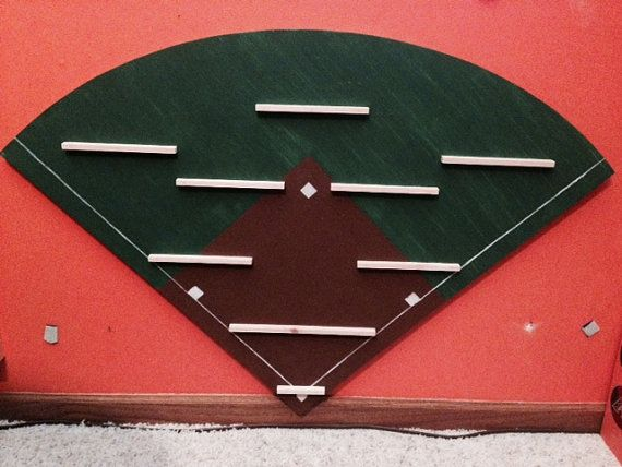Baseball Card Display board field MLB by TheRunningSignShop