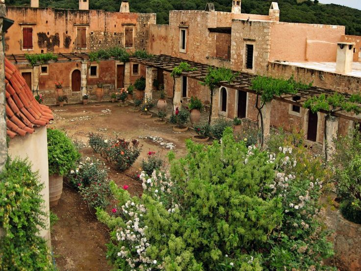 Crete, Port, The Old Town, Greece, Garden,City
