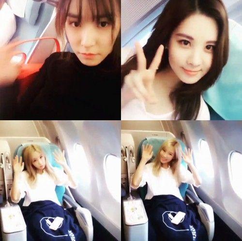 少女時代ティファニー、上海に向かう機内で撮ったテティソを公開!