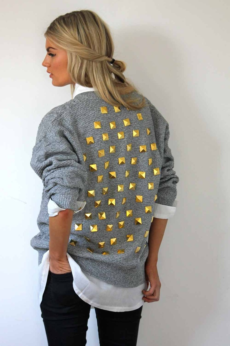 Studded sweater #love #studs #clothing