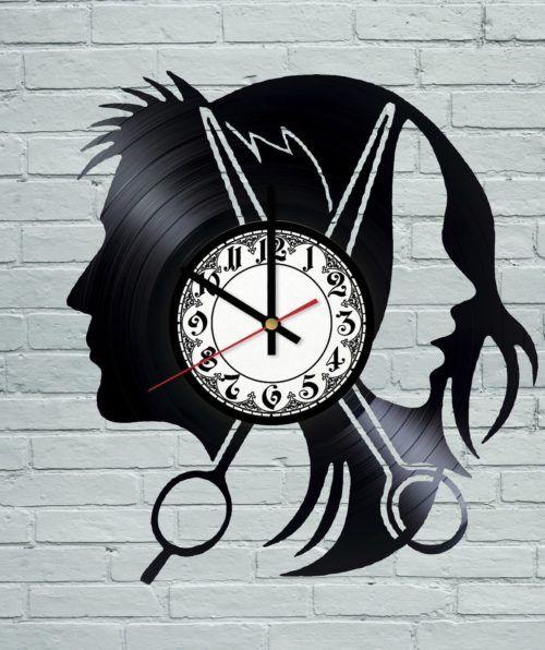 Hairdresser Salon ProfessionalVinyl Record Wall Clock
