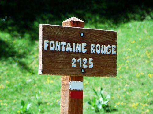 Rouge fontaine