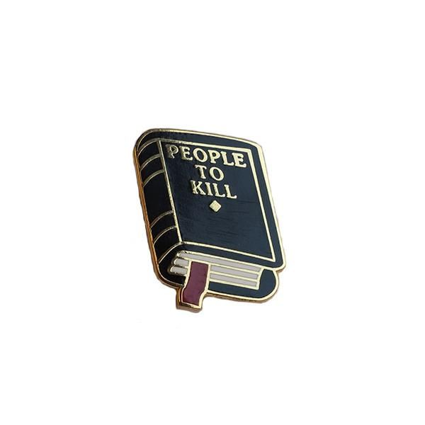 "1"" brass lapel pin, based off our ""People To Kill"" notebook!"