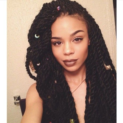 Photo - Big long twists gorgeous hairstyle - Black women Fashion&Hairstyles