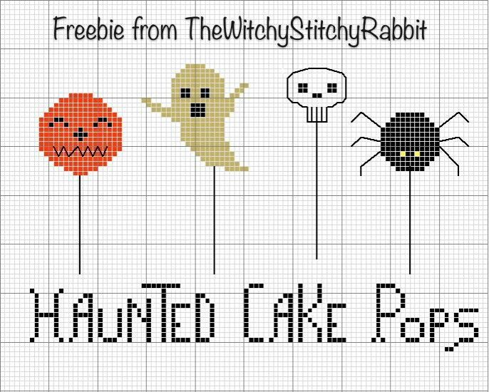 Halloween Cross Stitch Freebie from TheWitchyStitchyRabbit