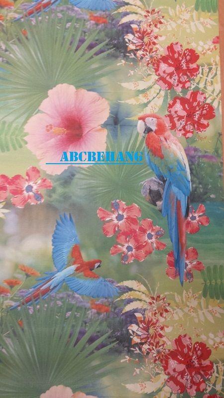 Papegaai Bloemen Tropisch Kleurrijk behang  XX120