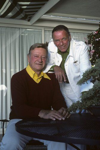 John Wayne and Frank Sinatra