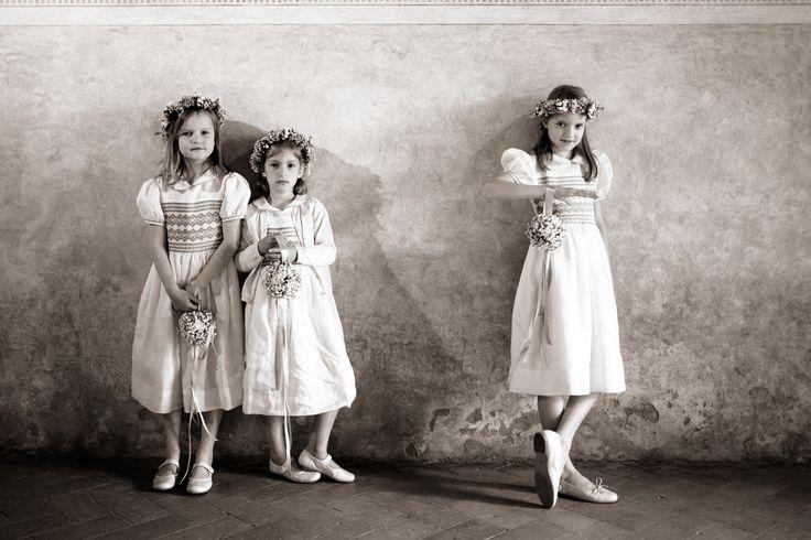 flower girls, wedding in Veneto, Italy