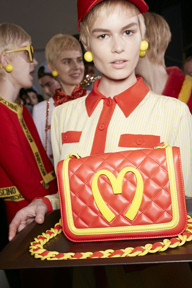 Backstage at Moschino Fall/Winter 2014 fashion show! Shop the runway at www.moschino.com! #moschino #backstage #mfw