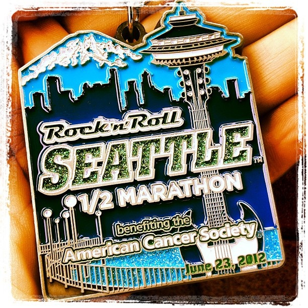 Rock and Roll Seattle Half Marathon - June 2012 - finisher's medal