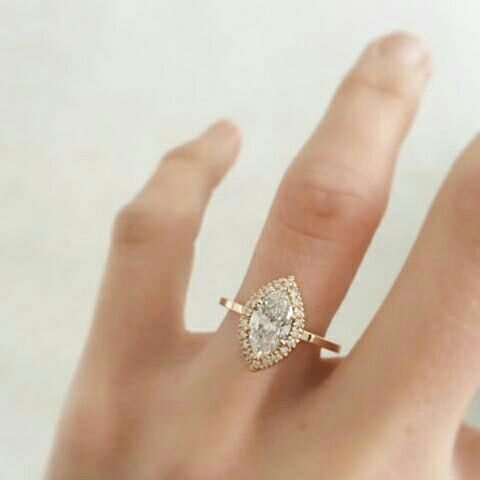Beautiful and unique gold engagement ring.