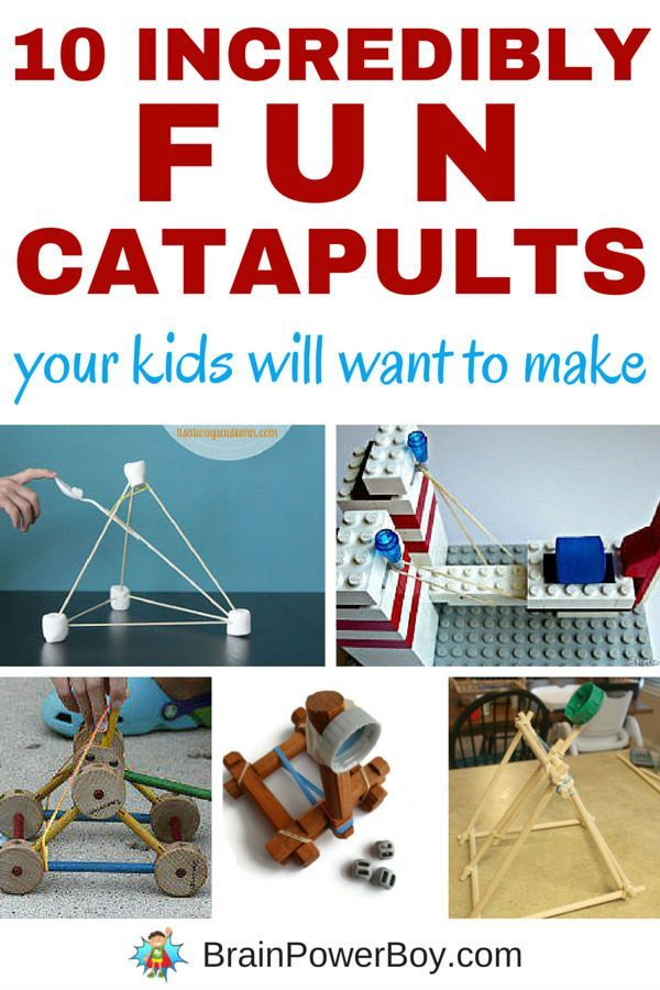 Want a great learning activity that is a lot of fun? Try building catapults. We picked 10 catapults from the very small to a backyard one that can chuck a pumpkin! Instructions included! #catapult #stem #activities #kidsactivities #homeschool