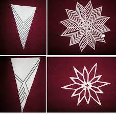 Image result for как сделать снежинки из бумаги схемы