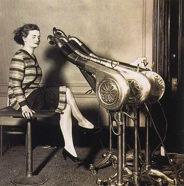 First hair dryer - about 1920