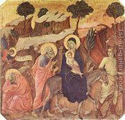 Flight into Egypt 1308-11  by Duccio Di Buoninsegna