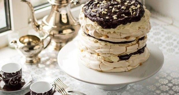 Меренговый торт с маскарпоне - пошаговый рецепт с фото