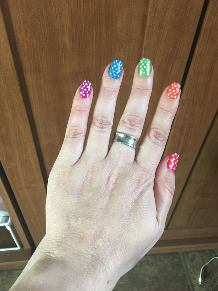 Spring Polka Dots...  Sinful Colors... Easy Nail Art... Beginners Nail Art