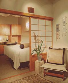 Sensia Studio & Japanese Day Spa in Houston's Galleria neighborhood, with a relaxing interior and those fabulous hot stone massages... ~~  Houston Foodlovers Book Club