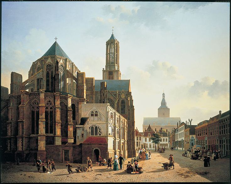 Jan Hendrik Verheyen - View of the choir and tower of Utrecht Cathedral