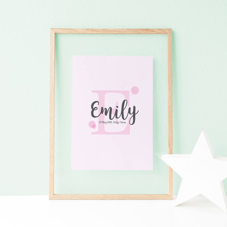 This lovely baby name sign is ideal to be printed and framed as a nursery wall art, or to offer it as a baby shower or birthday gift. Baby Name Sign, Nursery Wall Art, Blush Pink, Baby Girl Poster, Baby Name Wall Art, Baby Boy Name Sign, Personalised Letter, Art Prints by MyFreshLemonade on Etsy