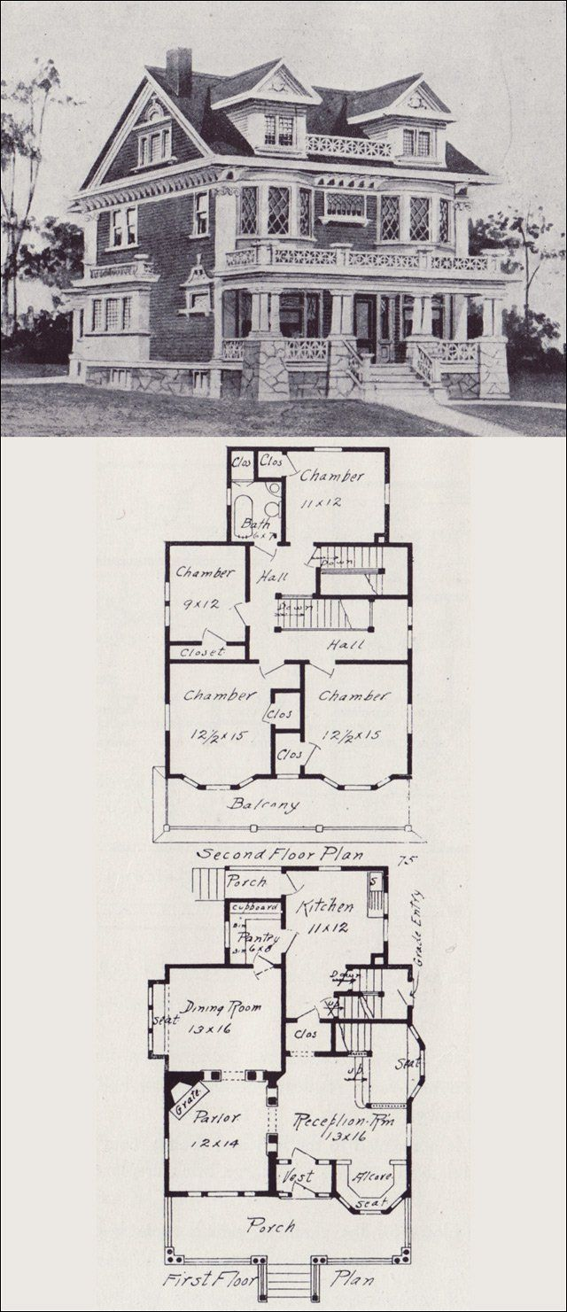 25 best ideas about vintage house plans on pinterest for Western homes floor plans