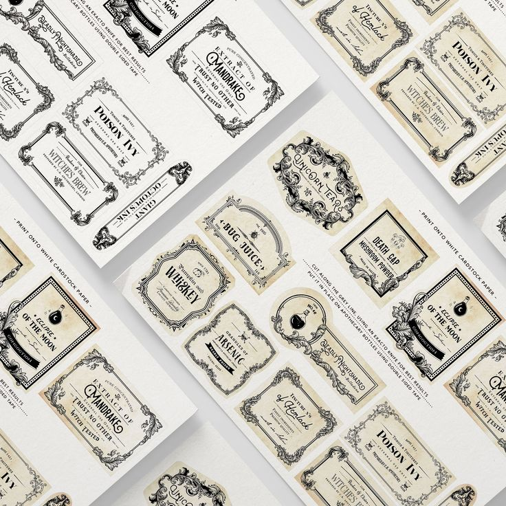 Prepare for your Halloween Party with these handdrawn apothecary labels. Print them and glue them to any container jar bottle or tin. Available now in my Etsy Shop - CopperBoomStudios Link in my bio - #halloween #papercrafts #paperlover #papergoods #crafting #printable #label #labels #halloweenlabels #apothecarylabels #apothecaryjars #poisonlabels #vintagelabels #etsy #etsyshop #handdrawnillustrations #printables #artprint #printablelabels