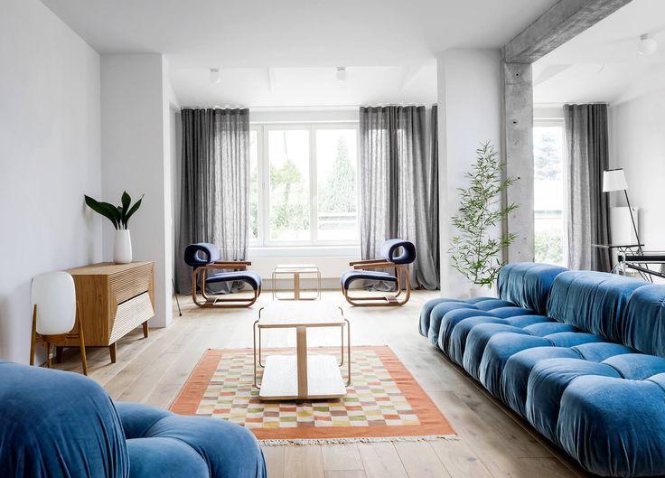 Polish design studio Loft Kolasinski bring their signature playful interior style and love for European furniture to their recent House in Pogodno project.