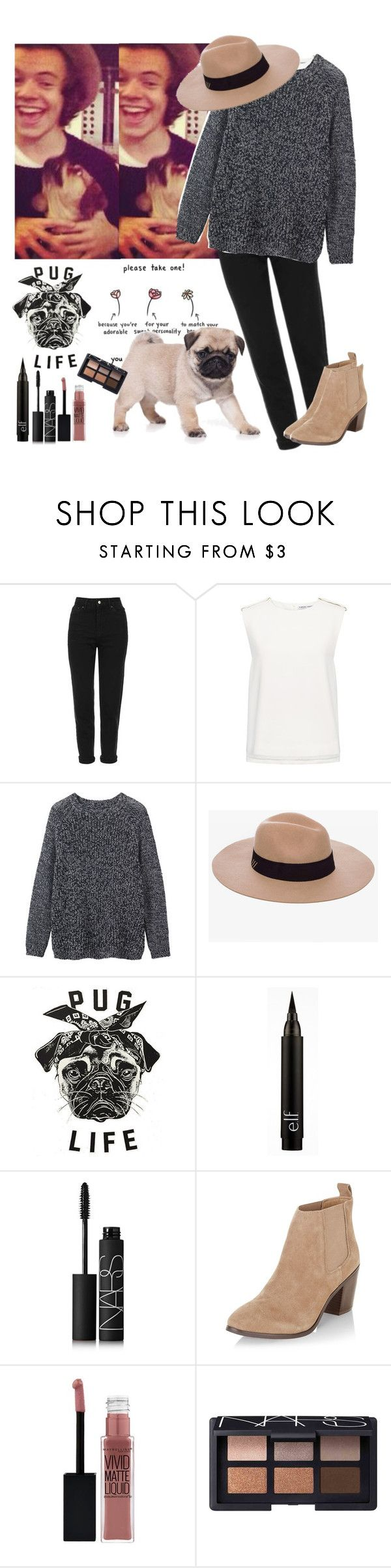 """""""Fem!Harry."""" by wolvestyle ❤ liked on Polyvore featuring Topshop, Finders Keepers, Toast, Anine Bing, NARS Cosmetics, New Look and Maybelline"""